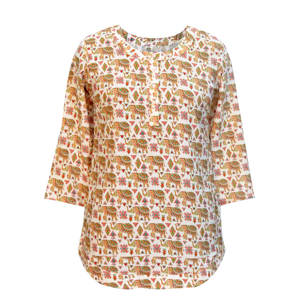 Indie Elephant Kurta Top