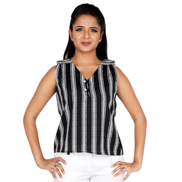 black-casual-top-for-women-online