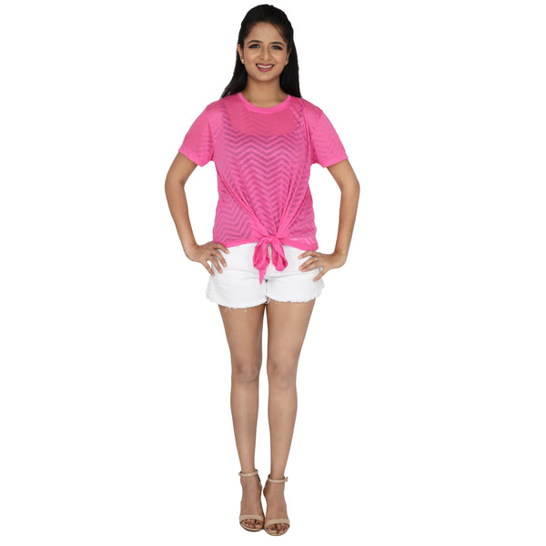 front-knotted-pink-top-for-ladies