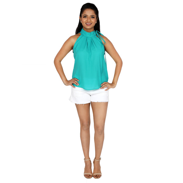 teal-blue-halter-top-online-for-women