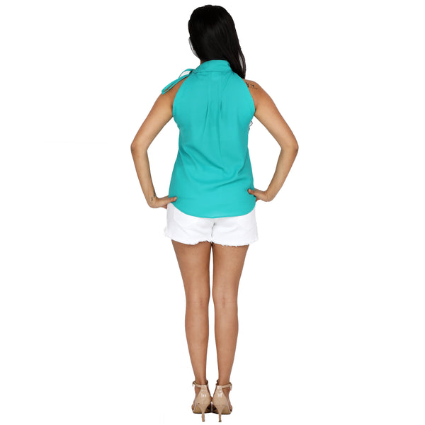 girl-wearing-white-shorts-and-green-halter-top