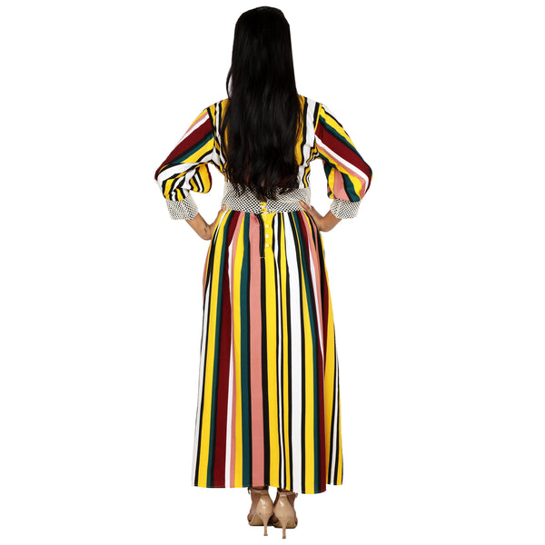 Striped Flared Dress