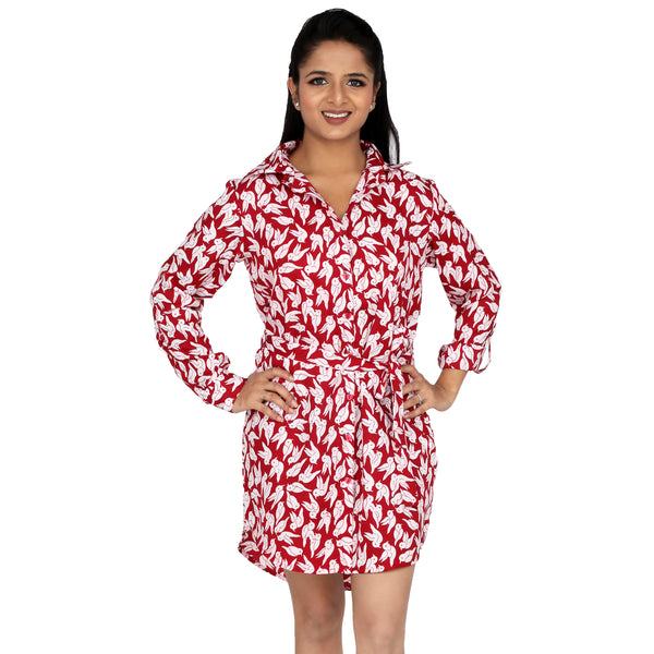 white-and-red-shirt-dress-for-women-online