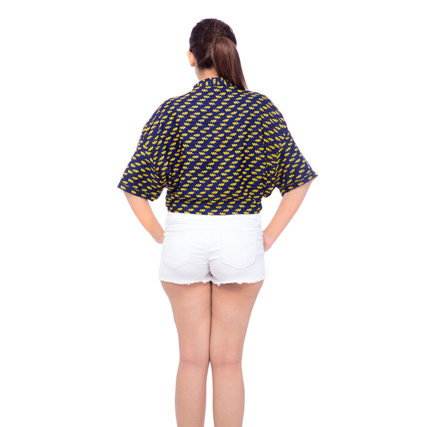 Gravity Sleeves Butterfly Cut Shirt