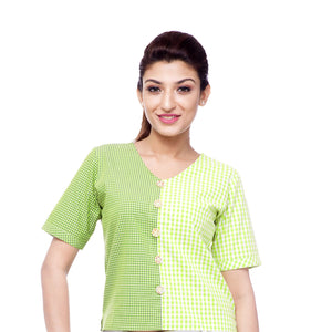 gingham-checks-crop-top-for-ladies