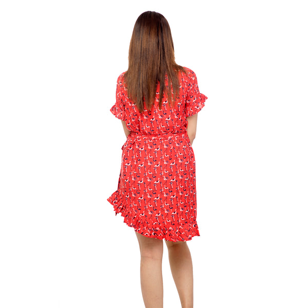 red-wrap-around-dress-for-ladies