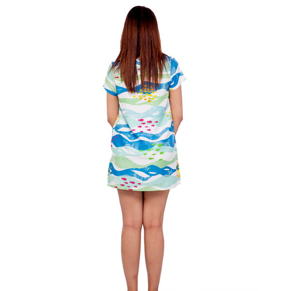 Marine Shift Dress