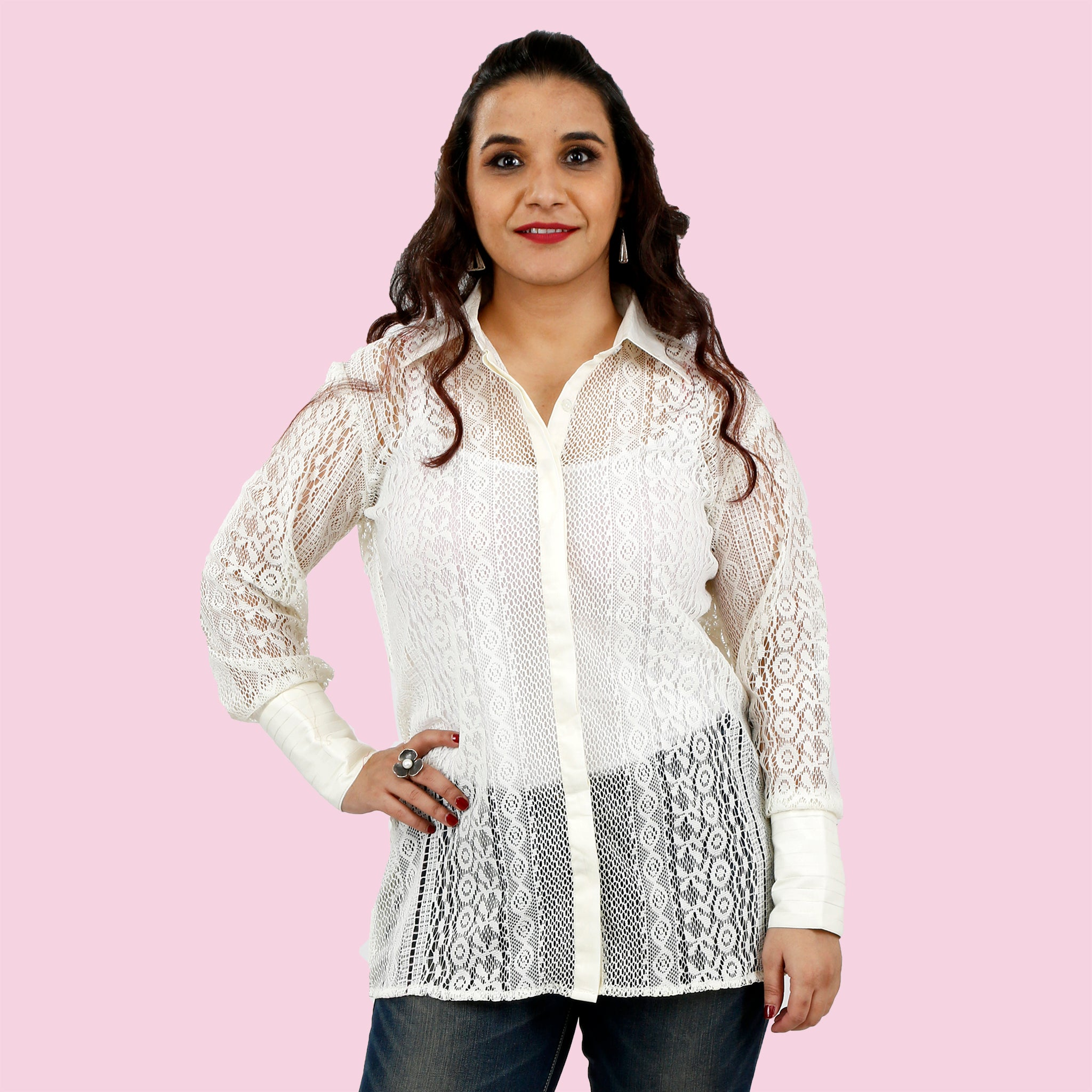 women's-white-net-long-top-online-india