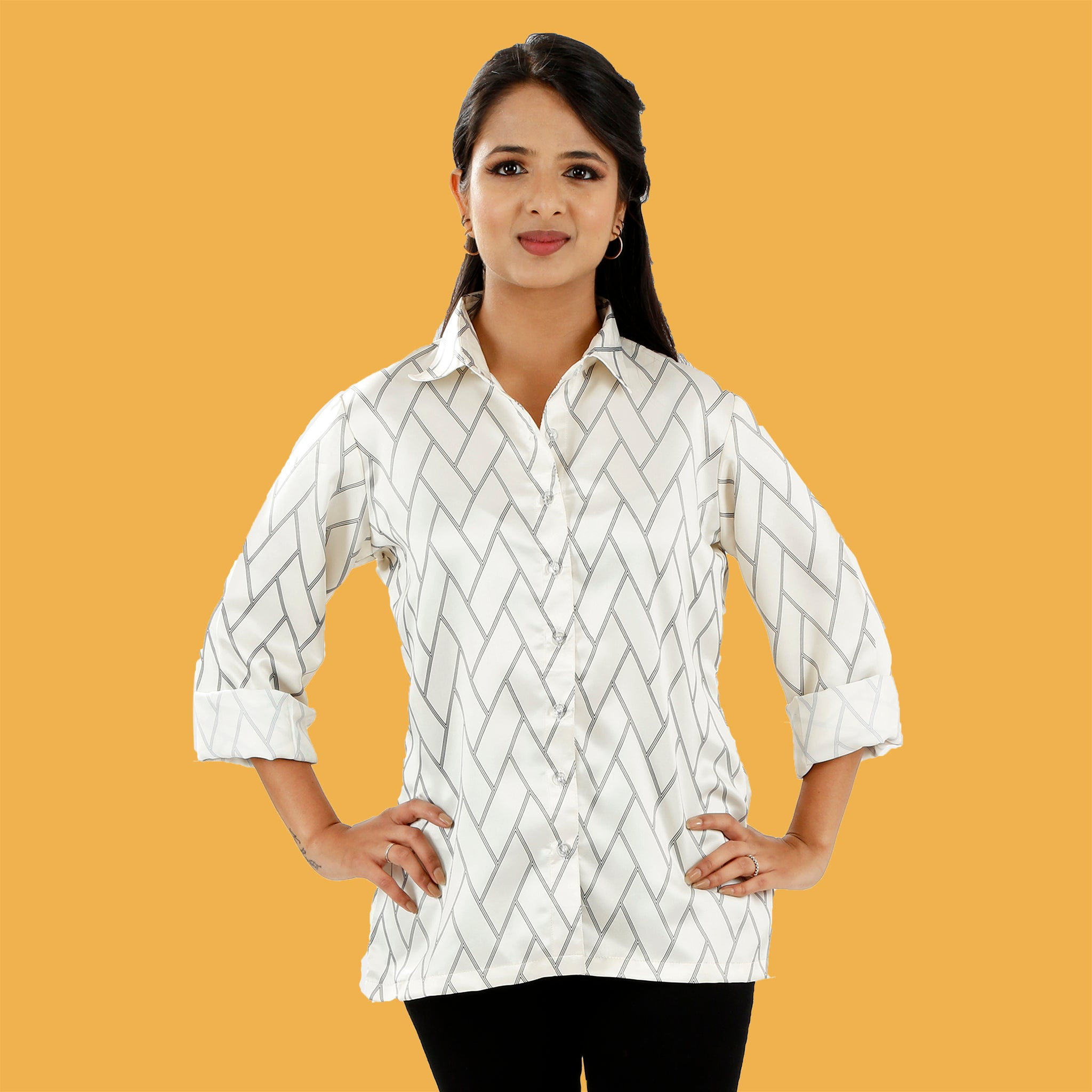 white-and-black-formal-shirt-for-ladies-online-india