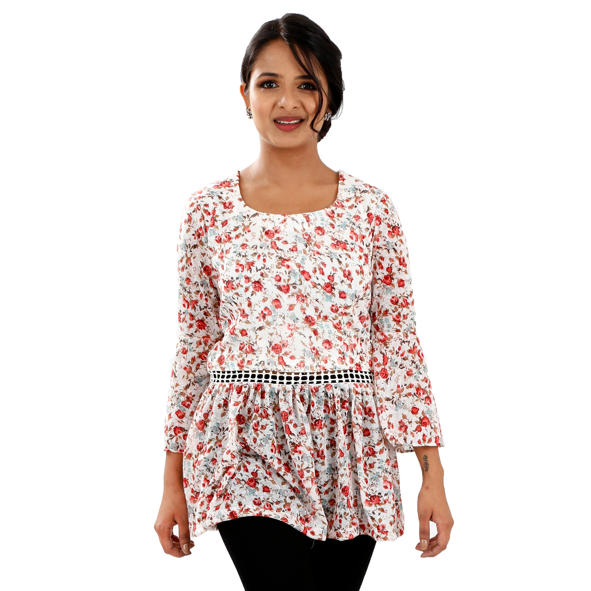 casual-peplum-top-in-floral-print-for-women