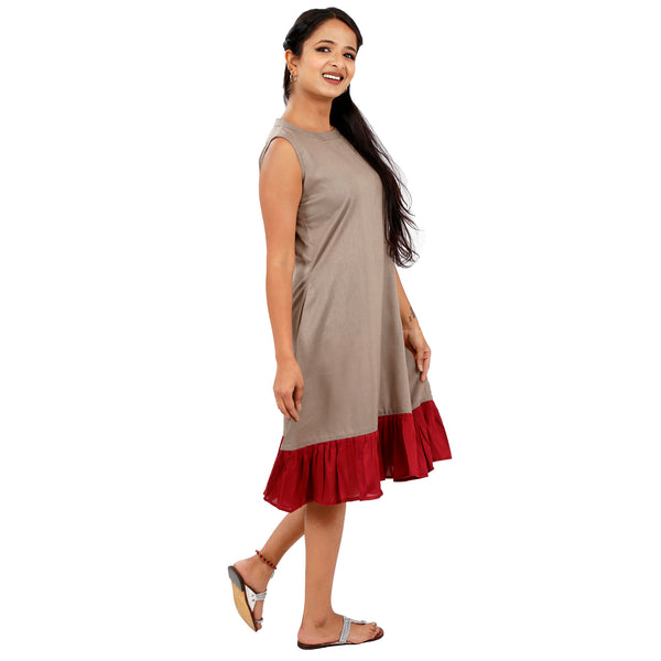 casual-swing-dress-for-ladies-with-pockets