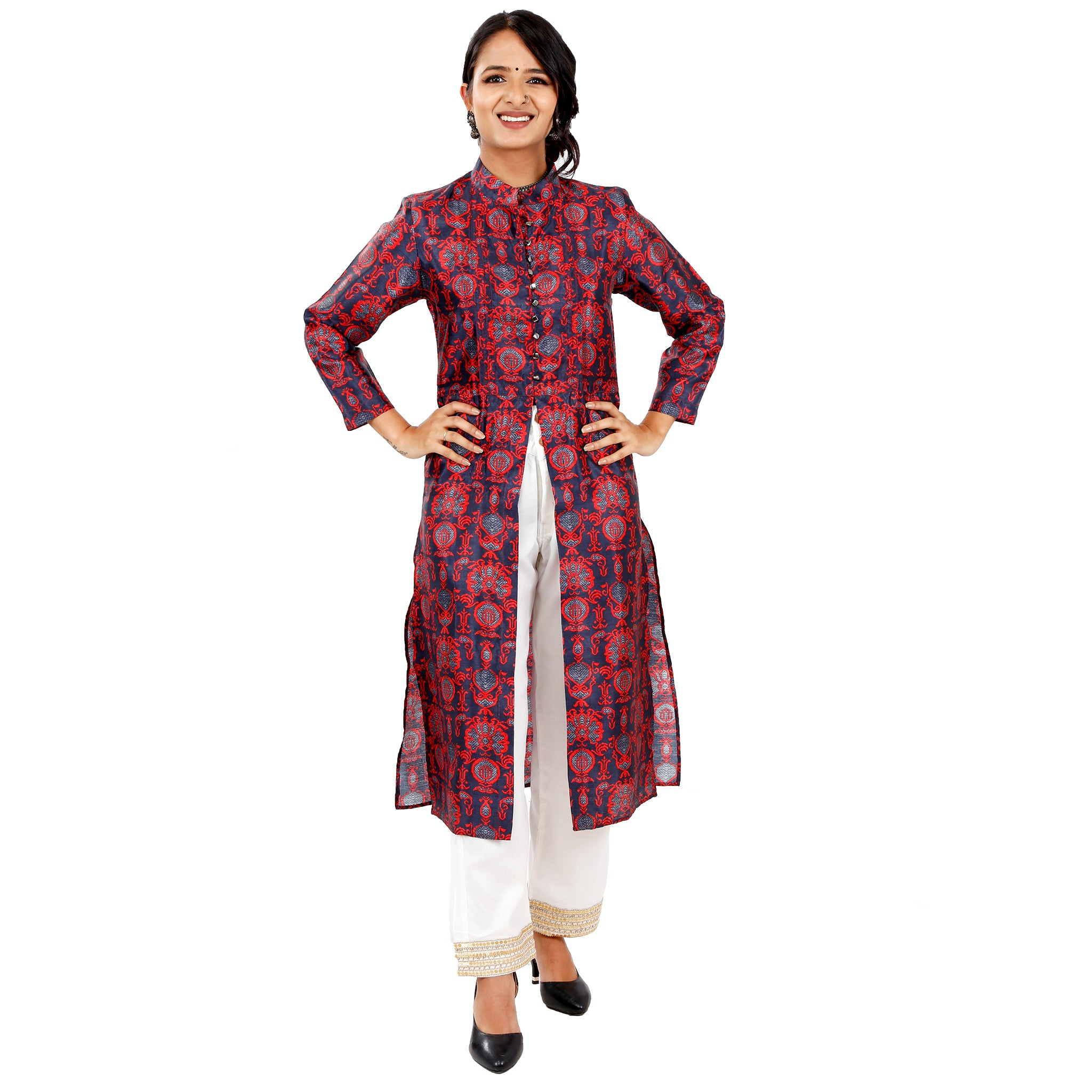 ladies-party-wear-silk-kurta-online-india