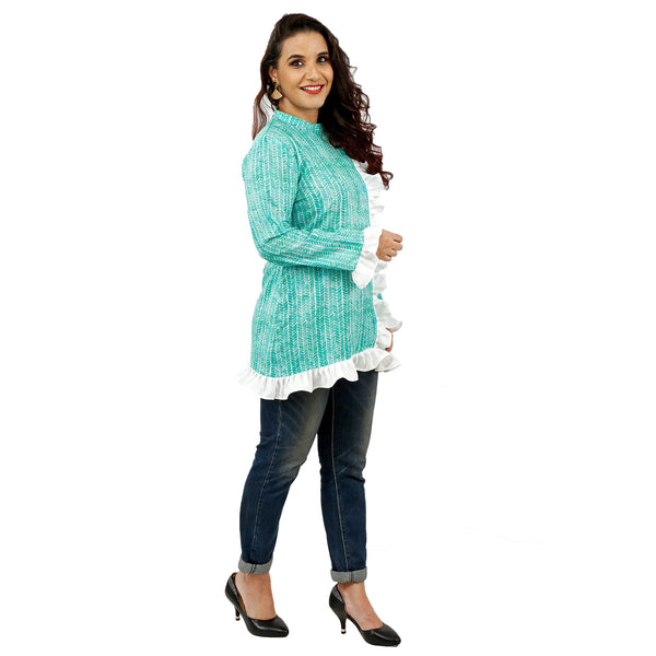 SIT-maid-shubhangi-litoria-wearing-floral-long-top-from-the-feel-good-studio