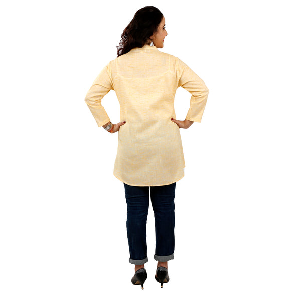 Lemon Yellow Straight Kurta Top