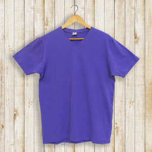 Solid Purple Plain Women's Tee
