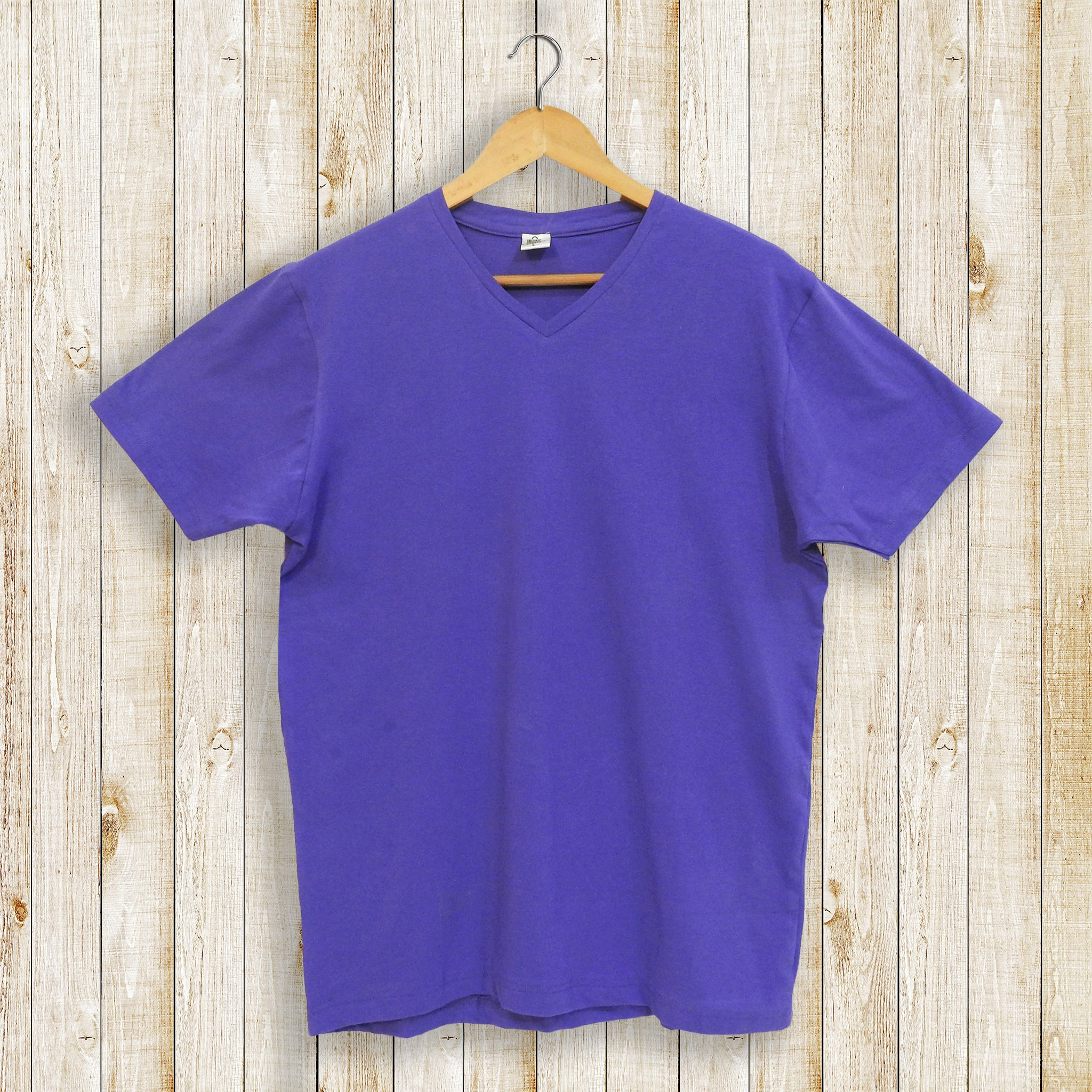 Solid Purple Plain Men's T-shirt