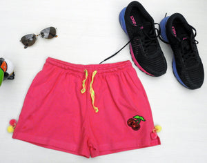 Pink Funk Shorts With Pockets
