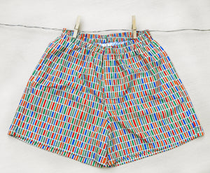 Colour Jenga Shorts With Pockets