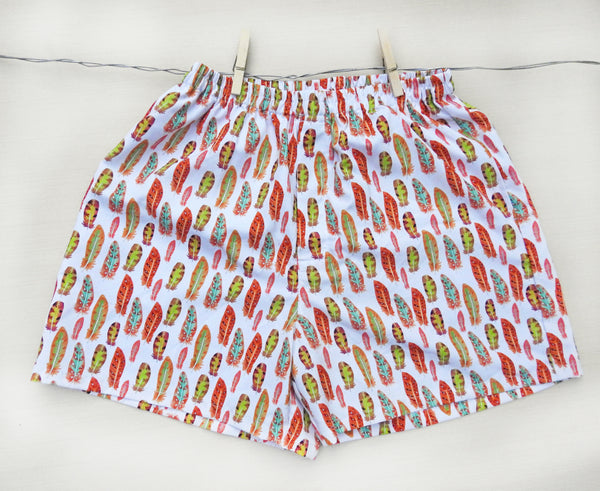 feather-print-boxer-shorts-for-women