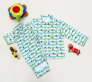 Doggy Banana Print Boys Night Suit