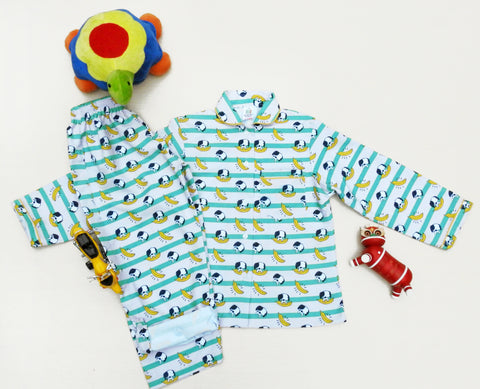 Doggy Banana Print Girls Nightsuit