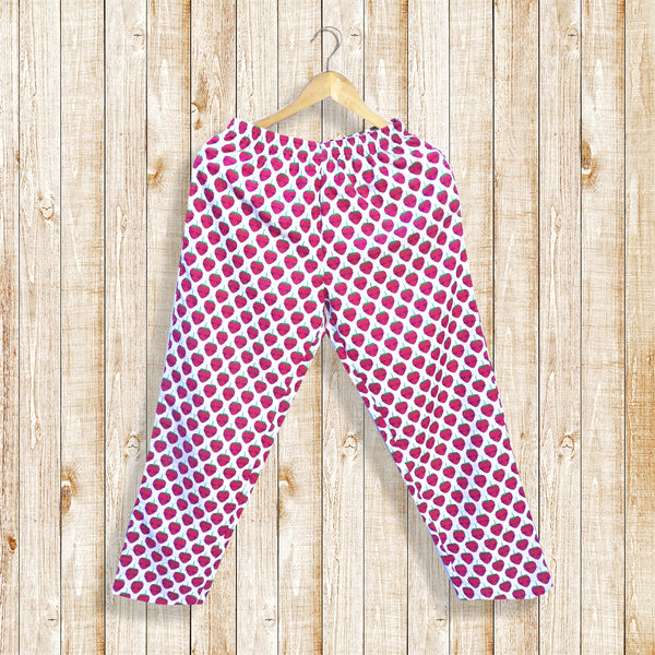 Juicy Strawberry Women's Pajamas With Pockets