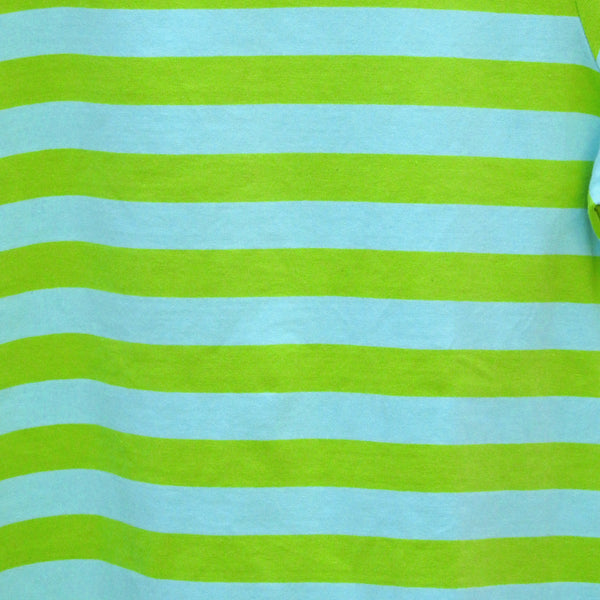 Blue & Green Striped Women's T-shirt