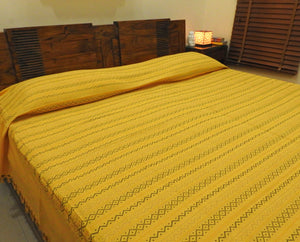 Golden Yellow Bed Cover