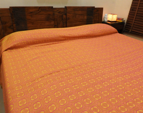 Pink & Yellow Bed Cover