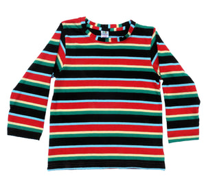 Red & Green Pop Full Sleeves Kids Tee