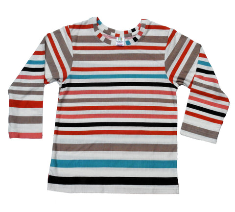 Happy Stripes Full Sleeves Kids Tee