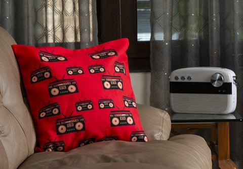 Those Tape Recorder Days Cushion Cover