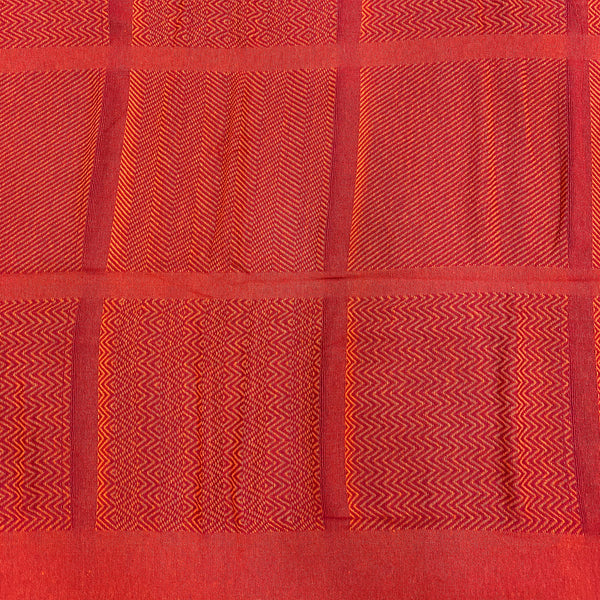 Red & Orange Woven Bed Cover