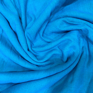 Plain Blue Miami Cotton Fabric