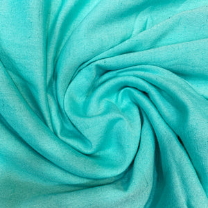 Plain Aquamarine Blue Soft Cotton