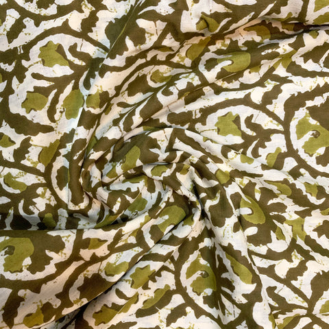Shades Of Green Floral Cotton Print