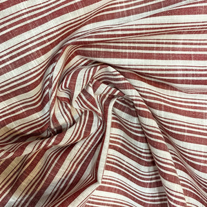 Maroon Striped Cotton Fabric