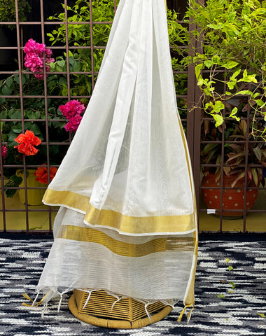 white-and-golden-dupatta-online-india