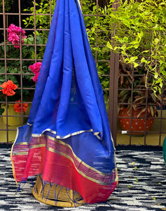 blue-dupatta-with-pink-border-online-india