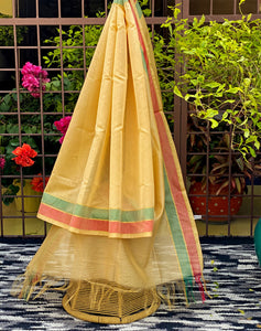 yellow-dupatta-with-colourful-border-for-every-day-wear-online