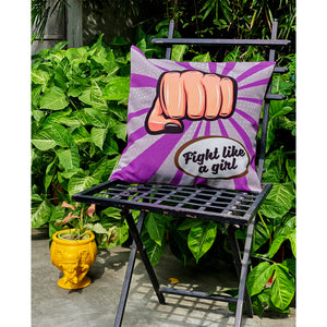 fight-like-a-girl-cushion-cover-online-India