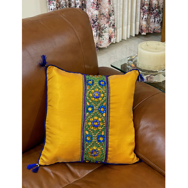 brocade-cushion-cover-in-yellow-and-blue-colour