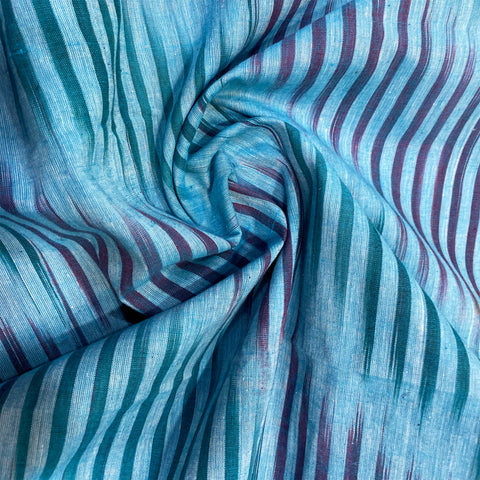 cotton-ikat-fabric-online-in-blue-colour