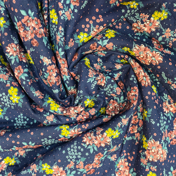 Night Queen Floral Cotton Fabric