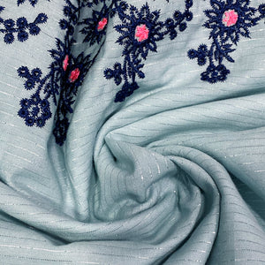 blue-cotton-fabric-with-embroidered-border-online