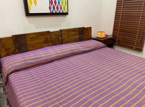 Magenta Pink & Orange Woven Bed Cover