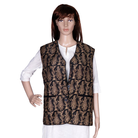 HandSpun Cotton Silk Printed Indie Jacket