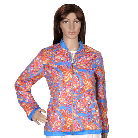 Printed Cotton Bomber Jacket