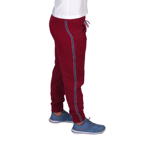 Warm Fleece Maroon Lower With Pockets