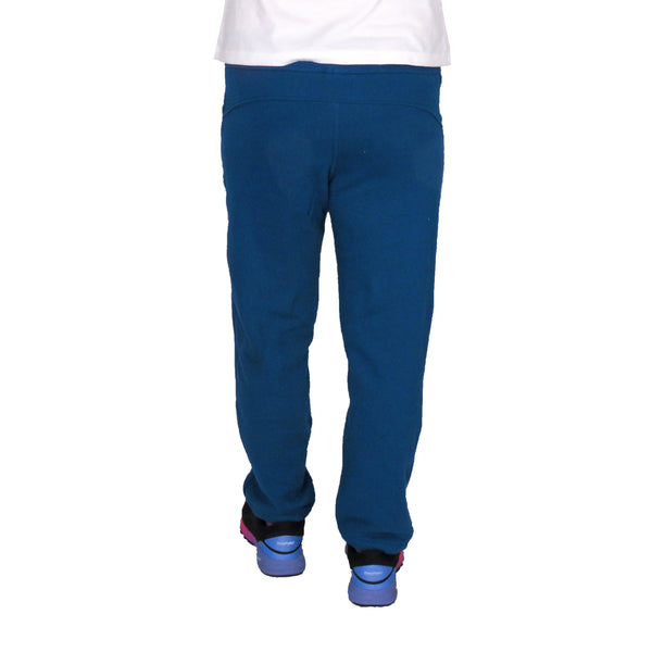 Warm Blue Fleece Comfy Pants With Pockets